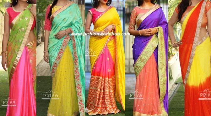 Gorgeous Half saree Model Sarees ~Fashionworldhub~