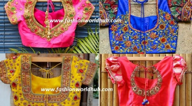 Latest Maggam work blouse designs for Pattu & kanjeevaram sarees!