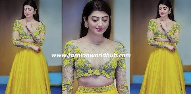 Pranitha Subhash in  Divya reddy outfit!