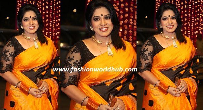 Haritha Jockey in Traditional saree at Zee telugu Apsara