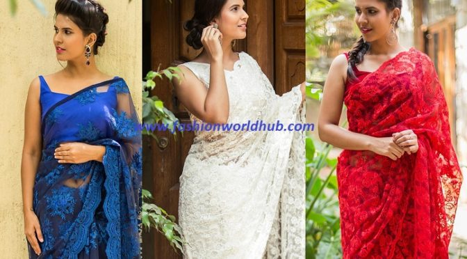 Stunning Lace net sarees – House of blouse