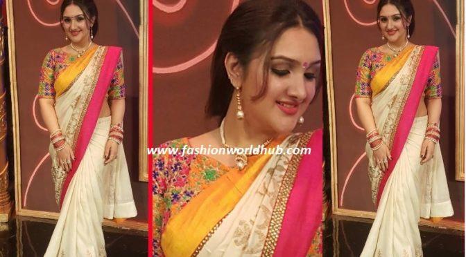 Sridevi Vijaykumar in designer saree!