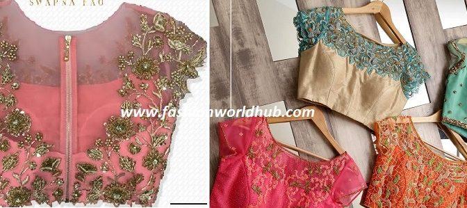 Trending Designer blouses from Swapna Rao Designer