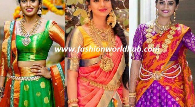 Designer half sarees ( Lehanga honi)