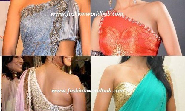 Single shoulder blouse designs!