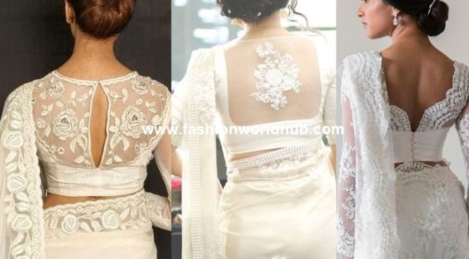 Amazing white saree collections!