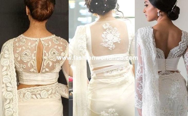 amazing white sarees