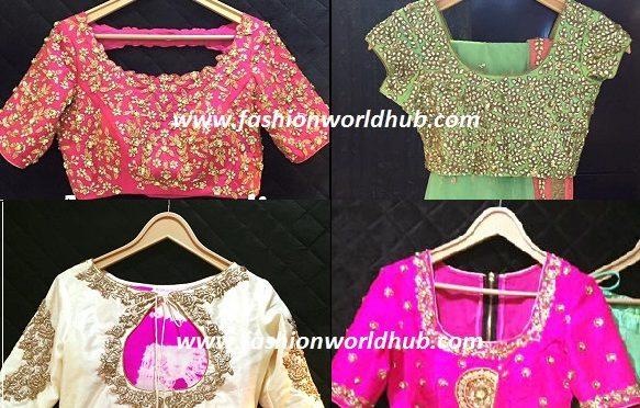 Maggam work blouse designs -Aurum Studio