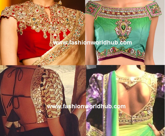 back neck blouse designs