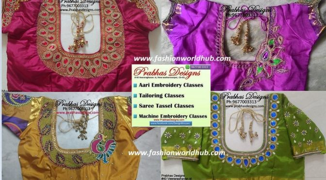 Want to learn how to make maggam work on blouses (or) want to learn stitching of blouse? – Prabha Designs