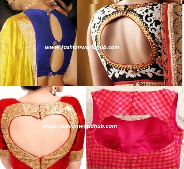cut out blouse designs