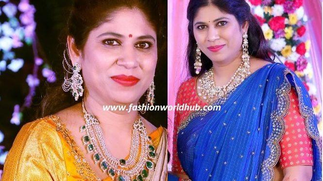 Swetha Reddy in Diamond Jewellery – Hiya designer jewellery