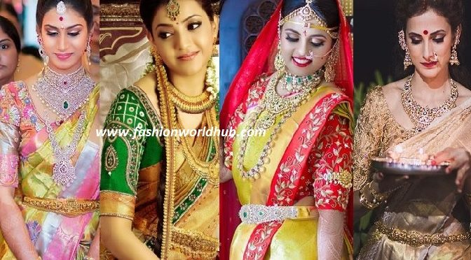 Best blouse colour Combinations for Gold Kanjeevaram sarees!
