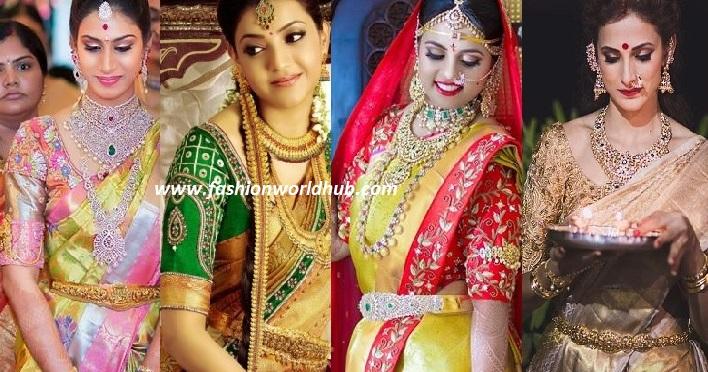 fashionworldhub-gold kanjeevaram