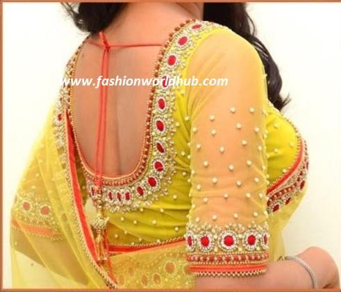 kundan blouse designs-4