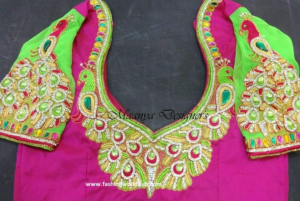 kundan design blouse