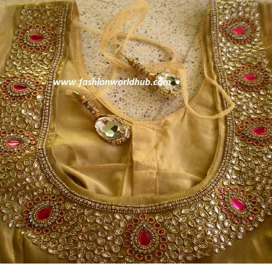 kundan work blouses-6
