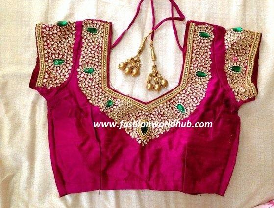 kundan work blouses2