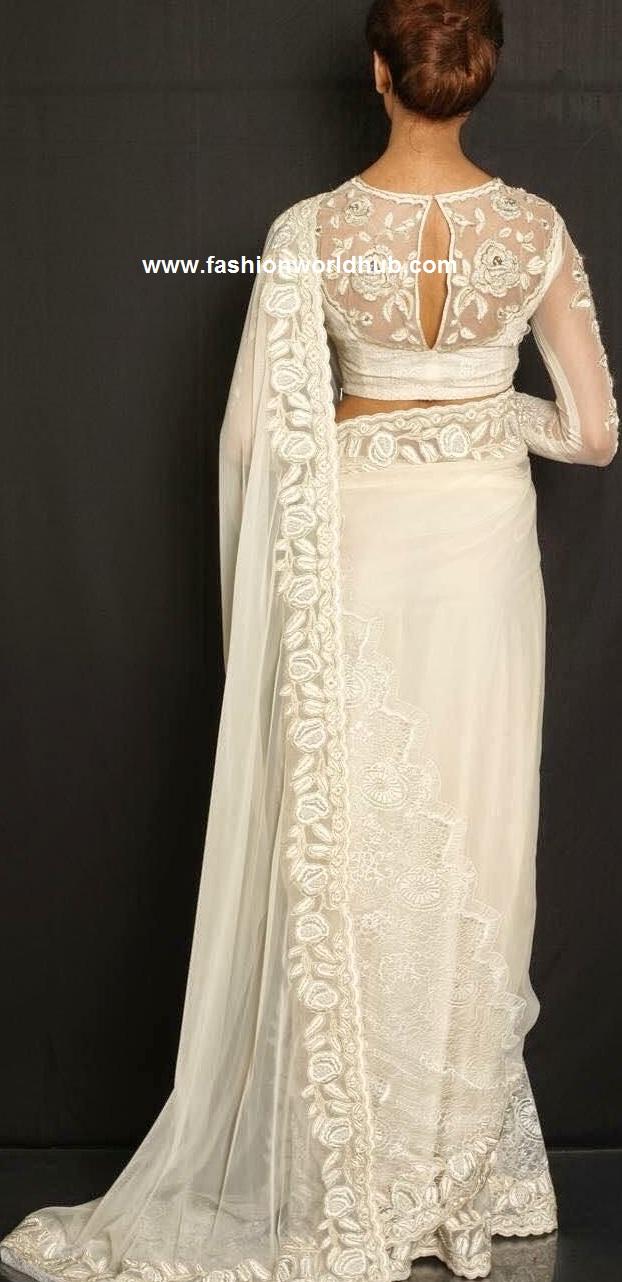 white saree 1