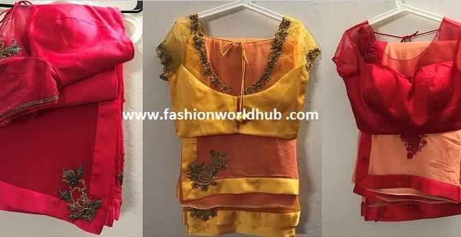 Designer Sarees & designer blouse.