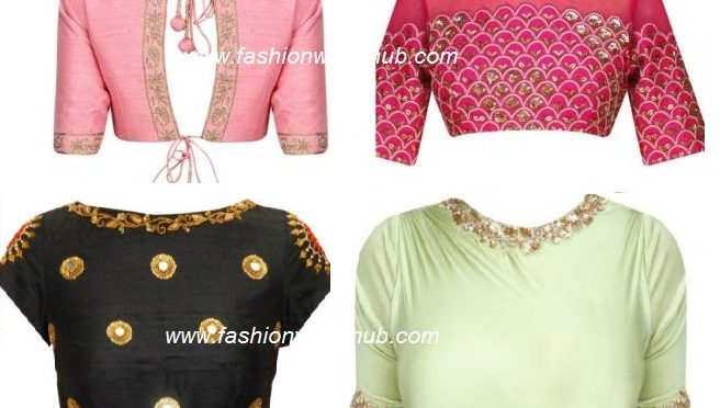 Beautiful embroidery work blouse designs!
