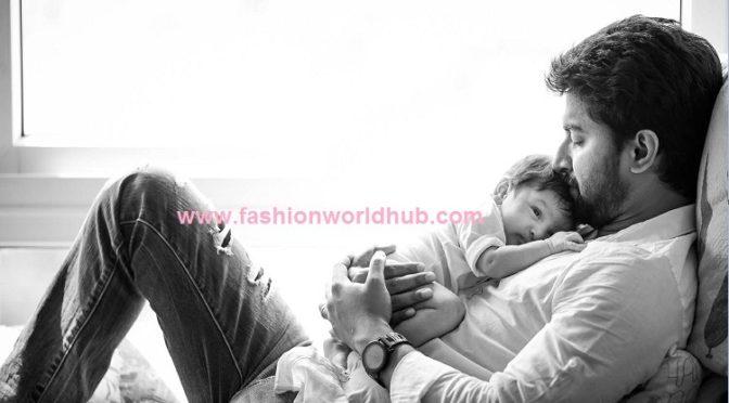 Finally Actor Nani Shared his son photos!!