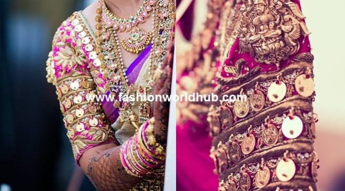 Unique blouse design with lakshmi kasu ~fashionworldhub~