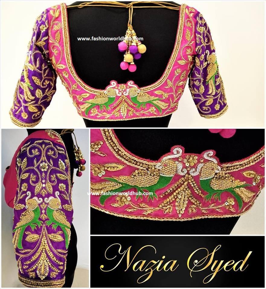 064f35aeb26d2a Latest Maggam work blouse designs - 60 Designs! | Fashionworldhub