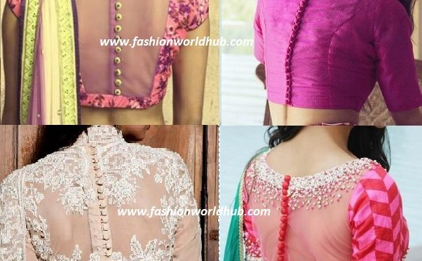 Back button blouse pattern designs ~ Fashionworldhub~