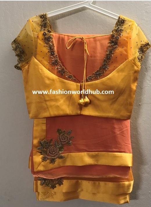 designer sarees-yellow