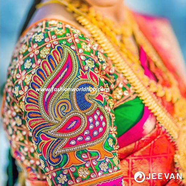 embroidery work blouse