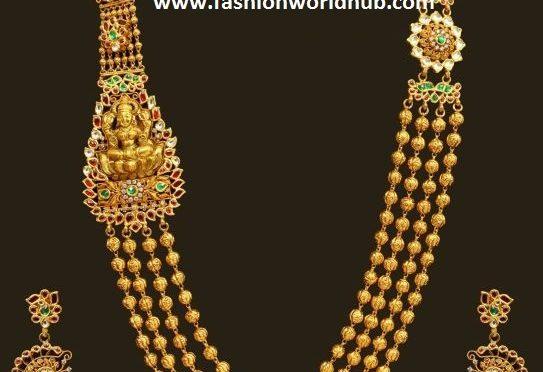 Gold Gundla Haram Designs