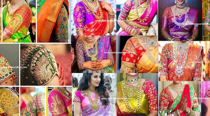 Maggam work blouse designs for Wedding sarees-70 Designs