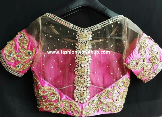 net blouse designs4