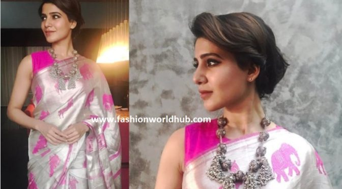 These Pictures Of Samantha Will Make You Fall In Love With Handloom Sarees!