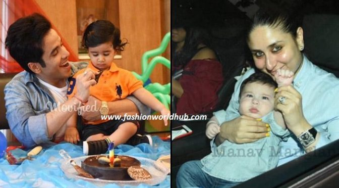 Adorable photo of Taimur at Tusshar Kapoor's Son birthday party!