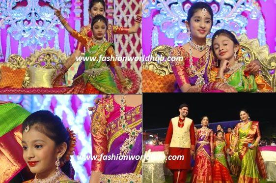Ritisha & Pranisha's Halfsaree ceremony Mindblowing Video by Epic by Avinash