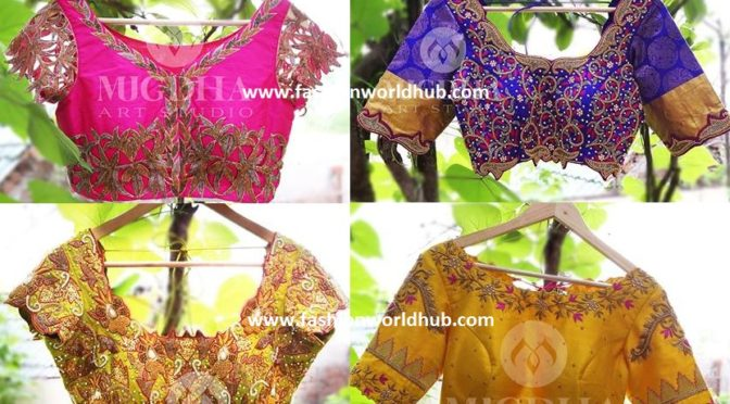 Beautiful blouse designs by Mugdha art studio!