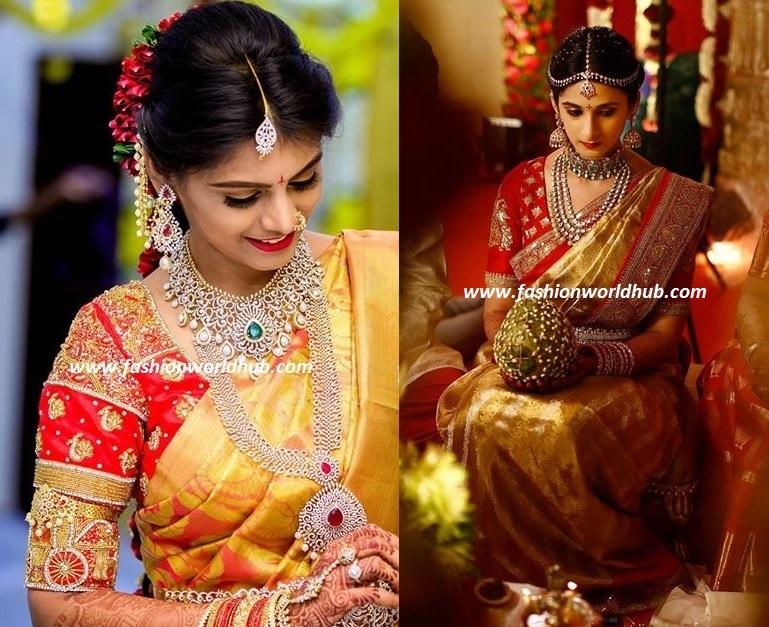 c00f77c19bc830 Stunning Contrast Blouse Combinations for Kanjeevaram Sarees ...