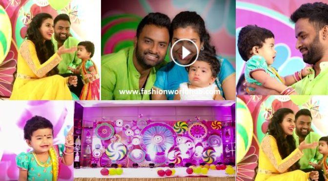 Sravana Bhargavi & vedala hemachandra daughter birthday video!!