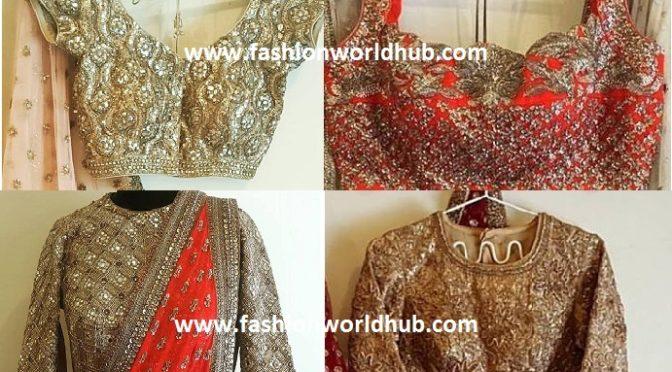 Heavy Work Bridal Saree Blouses by Anjali Sharma
