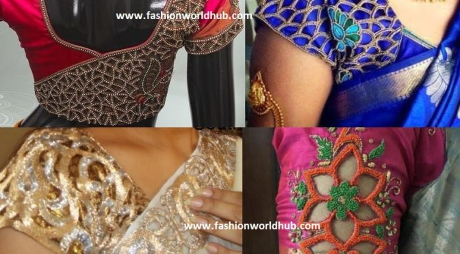 Cutwork Embroidery Blouse Designs