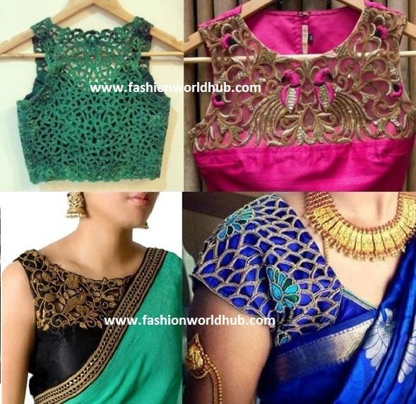 Cutwork Embroidery Blouse Designs | Fashionworldhub