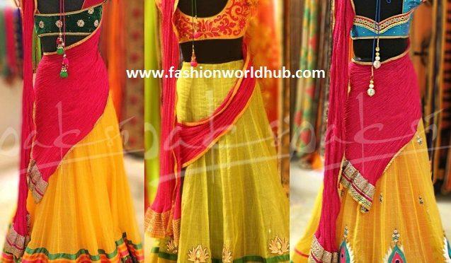 Designer Half Sarees by Deepthi Reddy