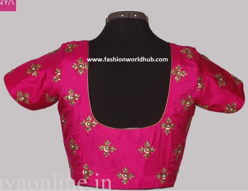 Beautiful Embroidery Work Blouses - Anya Designer Boutique | Fashionworldhub