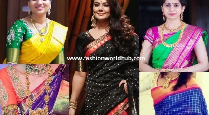 Must have eye catching kanjeevaram saree in women wardrobe