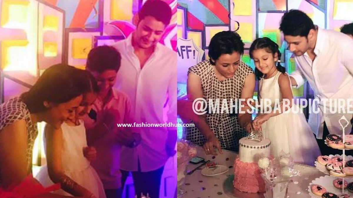 Mahesh babu daughter Sitara 5th birthday celebration photos