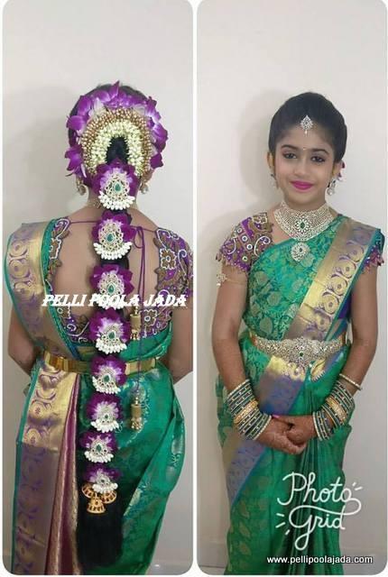 saree matching poola jada