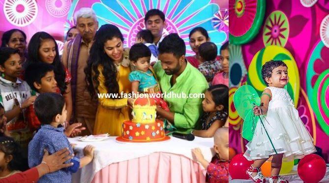 Sravana bhargavi & Hemachandra daughter 1st birthday Celebration photos!