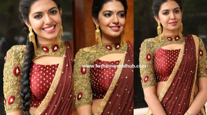 Shivani Rajasekhar in a designer Kalamkari Lehenga